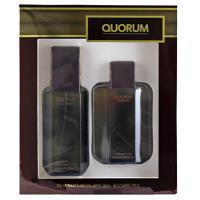 Antonio Puig Quorum, Eau de Toilette 100 ml + Aftershave 100 ml Geschenksets für Herren