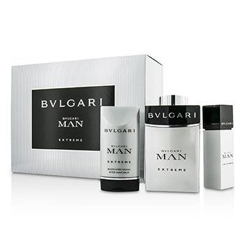 Bvlgari Bvlgari Man Extreme  - Geschenksets Eau de Toilette 100 ml + Aftershave Balm 100 ml + Taschenzerstäuber 15 ml
