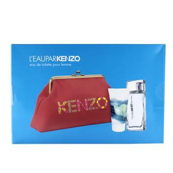 Kenzo L`Eau Par Kenzo   - Geschenksets Eau de Toilette Spray 50 ml + Body Gel 50 ml + Tasche