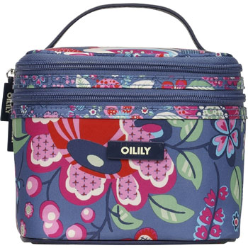 oilily kosmetiktasche oilily beauty case square cosmetic bag denim blau. Black Bedroom Furniture Sets. Home Design Ideas