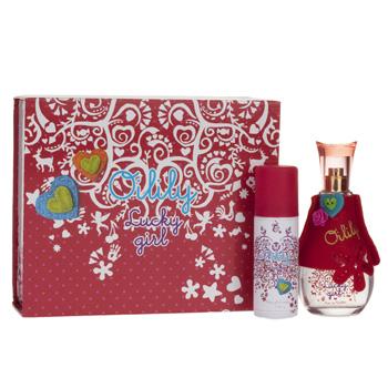 Oilily Parfum Oilily Lucky Girl Extra: Box + Spiegel - Geschenksets Eau de Toilette 75 ml + Bodyglitter 50 ml