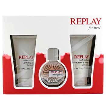 Replay Replay Woman  - Geschenksets Eau de Toilette Spray 20 ml + Duschgel 50 ml + Body Lotion 50 ml